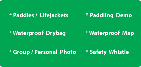 Kayak Rental Amenities